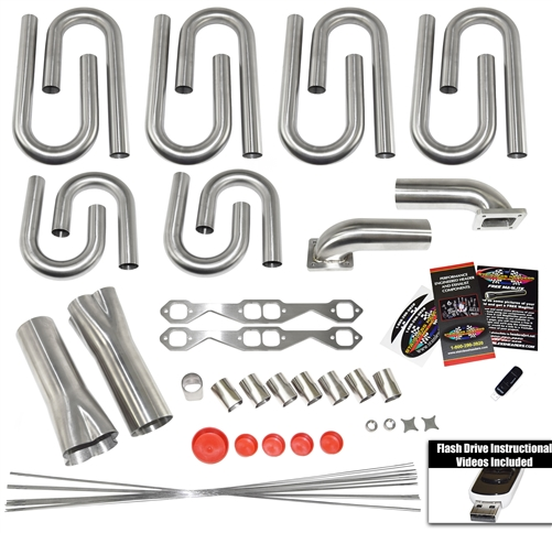 Fits for Chevy ALL Small Block Stainless Steel Exhaust Manifold Kit