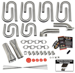 Small Block Ford- Windsor 20 Degree Race Head Custom Turbo Header Build Kit