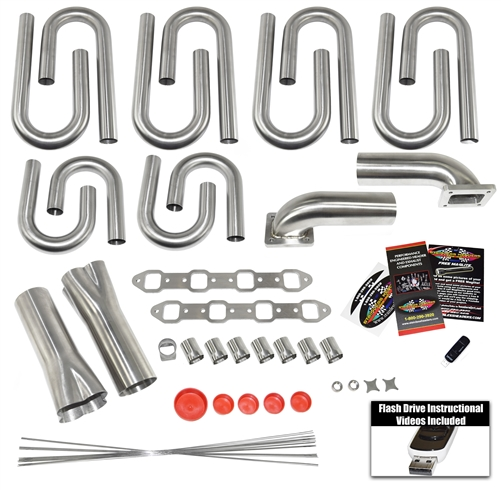 SBF-W Custom Turbo Header Build Kit to fit a Brodix Track 1 Race Head