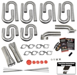"Custom Turbo Header Build Kit that fits a Sonny's 5.3"" Spaced Head"