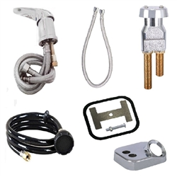 Faucet kit it for salon shampoo and backwash sinks