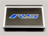 "American Car Craft Fuse Box Cover and ""RS"" Top Plate, Polished/Carbon Fiber :: 2016-2020 V6, 2.0 RS Camaro"