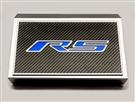"American Car Craft Fuse Box Cover and ""RS"" Top Plate, Brushed/Carbon Fiber :: 2016-2020 V6, 2.0 RS Camaro"