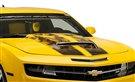 2010 2011 2012 2013 Camaro Hood / Rear Decklid Rally Stripe Gradient Flame (AirBrushed) #102050 By American Car Craft