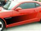 2010 2011 2012 2013 2014 2015 Camaro Graphic Gradient Flame Side Sport Fade (AirBrushed)  #102079 By American Car Craft