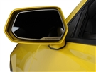 "2010, 2011, 2012, 2013, 2014, 2015 Camaro ""Supercharged"" Side View Mirror Trim (Brushed/Stainless) Steel #102072 by American Car Craft"