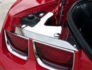2010 2011 2012 2013 Camaro Trunk Plates w/ Polished Caps #101047 by American Car Craft