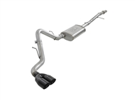 "aFe Power Vulcan Series 3"" 304 Stainless Steel Cat-Back Exhaust System, Black Tips :: 2019-2021 GMC Sierra 1500 V6-4.3L, V8-5.3L"
