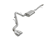"aFe Power Vulcan Series 3"" 304 Stainless Steel Cat-Back Exhaust System, Polished Tips :: 2019-2021 GMC Sierra 1500 V6-4.3L, V8-5.3L"