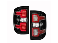 ANZO Sequential LED Taillights, Black Housing, Clear Lens - 2014-2018 Silverado 1500