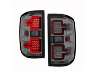 ANZO Sequential LED Taillights, Chrome Housing, Smoked Lens - 2014-2018 Silverado 1500