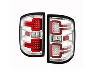 ANZO Sequential LED Taillights, Chrome Housing, Clear Lens - 2014-2018 Silverado 1500
