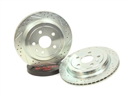 Camaro Decelarotor Brake Rotors - Drilled and Slotted (Rear) by Baer - fits all 2010, 2011, 2012, 2013 & 2014, 2015 Camaro SS & 1LE models