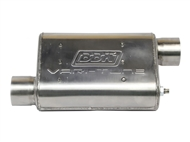 "2.5"" Vari-Tune Adjustable Performance Muffler, Double Offset (Stainless Steel) :: Universal Fit"