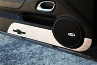 Door Kick Plate w/ Bowtie (Black, White, Orange, Satin or Polished) by Billet Custom fits 2010-2015 Camaro