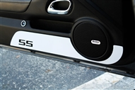 """SS"" Door Kick Plate (Black, White, Orange, Satin & Polished) by Billet Custom fits 2010-2015 Camaro"