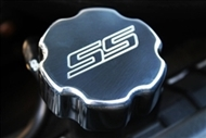 "2010 2011 2012 2013 Camaro ""SS"" Radiator Cap (Polished, Black, Orange) By Billet Custom"