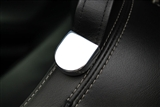 Seat Belt Strap Cover (Black, White, Orange, Polished, or Satin) #GMBC-140-PL by Billet Custom fits 2010-2015