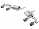 2016-2020 Camaro Borla ATAK Exhaust 11925CFBA Axle-Back NPP With Carbon Fiber TIps