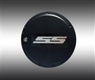 """SS"" Locking Fuel Door (Silver Logo) :: Fits all 2010-2015 Camaro models"