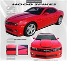 Hood Spikes Vinyl Graphic :: Fits all 2010-2015 Camaro models