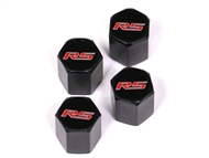 "Camaro Elite Black ""RS"" Valve Stem Caps #5050331 2010-2018"