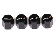 "Camaro Elite Black ""ZL1"" Valve Stem Caps #5050335 2010-2018"