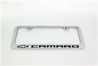2010-2021 Camaro License Plate Frame Chrome Bowtie