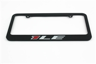 Camaro 1LE License Plate Frame Chrome Glossy Black 2013-2020