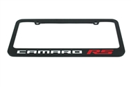 Camaro RS License Plate Frame Glossy Black 2010-2020