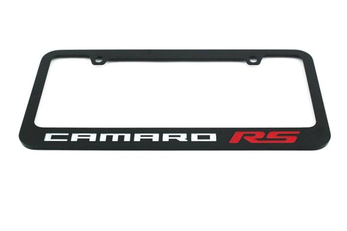 Camaro RS License Plate Frame Glossy Black 2010-2018
