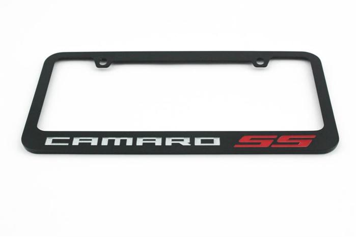 Black Camaro ZL1 Metal License Plate Frame