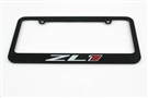 Camaro ZL1 License Plate Frame Chrome Glossy Black 2012-2020