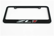 Camaro ZL1 License Plate Frame Chrome Glossy Black 2012-2021