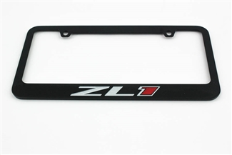 Camaro ZL1 License Plate Frame Chrome Glossy Black 2012-2018