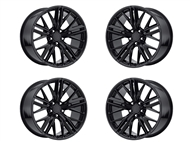 Factory Reproductions FR 28 ZL1 Replica Wheels 20x9 & 20x10 Gloss Black, Set of 4 - fits all 2010-2021 Camaro SS, LS, LT, RS, non-RS, 1LE & ZL1 Models