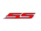 Chevrolet SS Emblem in Red Paint :: 2010-2019 Camaro