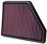 Replacement Air Filter by K&N #33-2434 fits 2010, 2011, 2012, 2013, 2014, 2015 Camaro