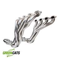 "Kooks 2260H430 2016-2019 Camaro 1-7/8"" Long Tube Headers with GREEN Cat Pipes"
