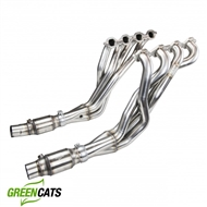 "Kooks 2016-2021 Camaro SS V8 2"" Long Tube Headers with GREEN Catted Connection Pipes #2260H630"