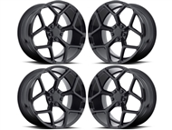 Camaro Z28 Style Wheels Gloss Black fits all 2010-2021 Camaro SS, LS, LT, RS, non-RS, 1LE & ZL1 Models