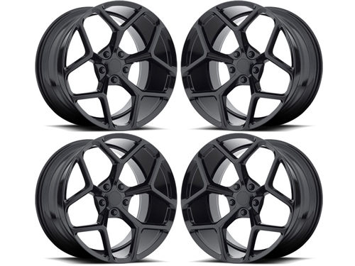Camaro Z28 Style Wheels Gloss Black fits all 2016-2020 Camaro SS, LS, LT, RS, non-RS, 1LE & ZL1 Models