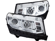2014-2015 Non-RS Camaro Headlights with U Shaped Halo and Projector Housings Part# GM649-B0WU0, 02-AZ-CO14-PCC-U