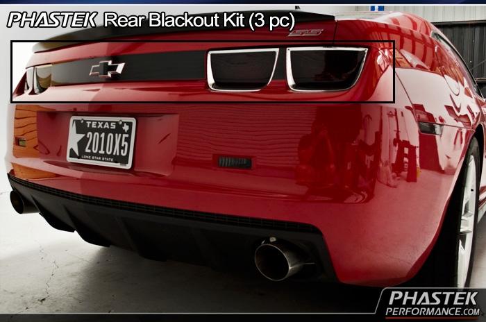 2010 11 12 13 Camaro Trunk Decal Rear Panel Blackout Fits: Camaro