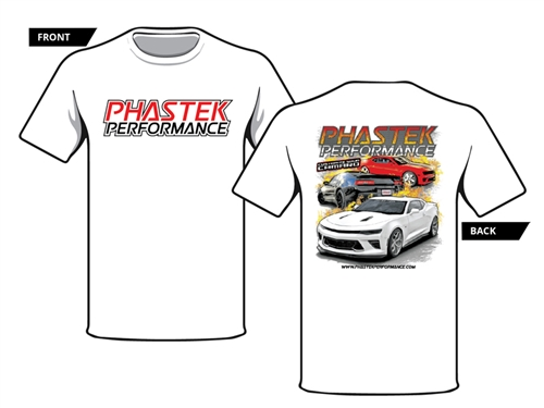 Phastek Camaro Cotton T-Shirt White