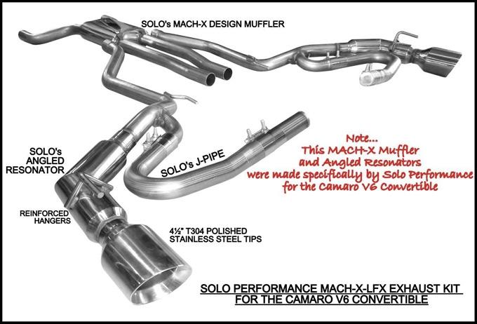 Solo Performance Mach-X-LFX Cat-Back Exhaust Kit :: 2011-2015 Camaro LS/LT  V6 Convertible