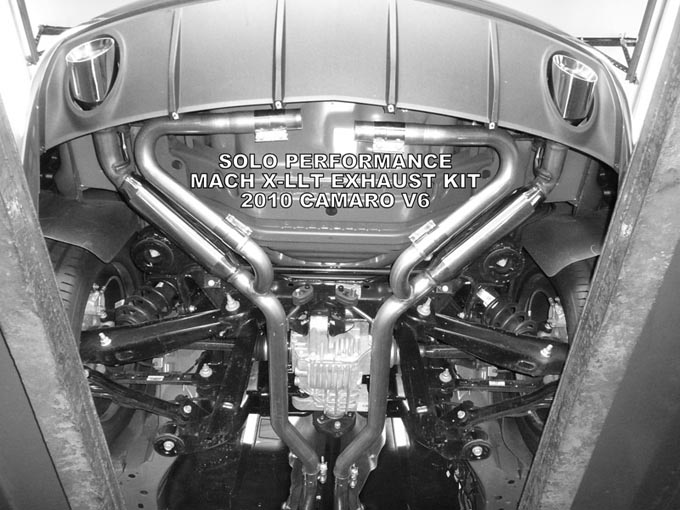 Solo Performance Mach X-LLT Exhaust Kit :: 2010-2015 Camaro LS/LT V6