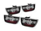 Spyder LED Tail Lights, Clear Lens/Black Housing :: 2010-2013 Camaro