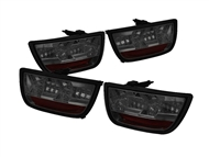 Spyder LED Tail Lights, Smoked Lens/Chrome Housing :: 2010-2013 Camaro