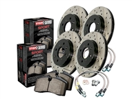 2010-2015 Camaro SS Cross Drilled and Slotted Sport Kit (Rotors, lines, and pads) #978.62001 by StopTech
